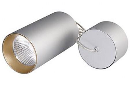 Светильник подвесной SP-POLO-R85-2-15W Day White 40deg (Silver, Gold Ring)