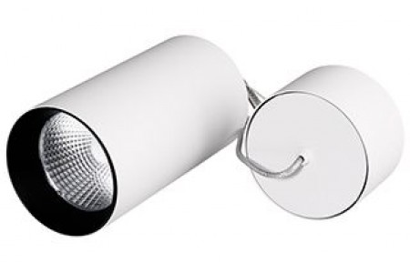 Светильник подвесной SP-POLO-R85-2-15W Day White 40deg (White, Black Ring)