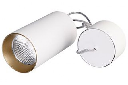 Светильник подвесной SP-POLO-R85-2-15W Warm White 40deg (White, Gold Ring)