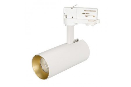 Светильник SP-POLO-TRACK-LEG-R65-8W White5000 (WH-GD, 40 deg)