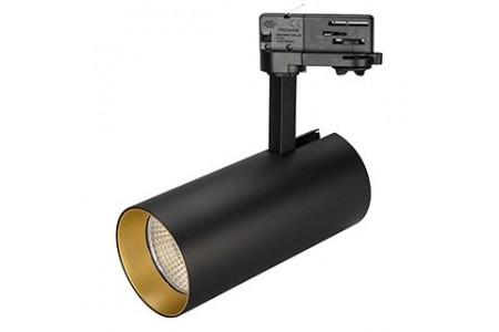 Светильник SP-POLO-TRACK-LEG-R85-15W Warm3000 (BK-GD, 40 deg)