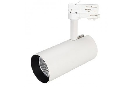Светильник SP-POLO-TRACK-LEG-R85-15W Warm3000 (WH-BK, 40 deg)