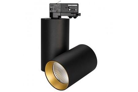 Светильник SP-POLO-TRACK-TURN-R85-15W Warm3000 (BK-GD, 40 deg)